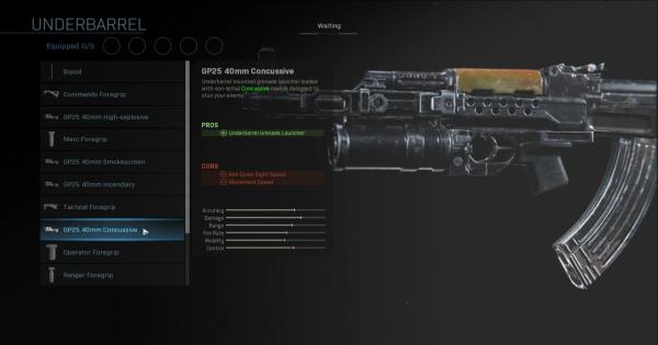 CoD: MW 2019 | GP25 40mm Concussive - Underbarrel Stats | Call of Duty: Modern Warfare