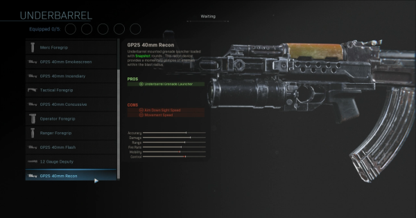 Warzone | GP25 40mm Recon - Underbarrel Stats | Call of Duty Modern Warfare - GameWith