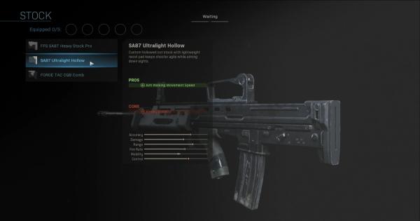 Warzone | SA87 Ultralight Hollow - Stock Stats | Call of Duty Modern Warfare - GameWith
