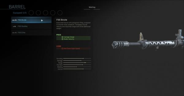 Warzone | FSS Brute - Barrel Stats | Call of Duty Modern Warfare - GameWith