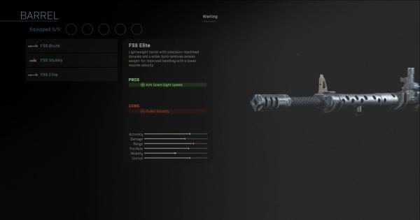 【Warzone】FSS Elite - Barrel Stats【Call of Duty Modern Warfare】 - GameWith