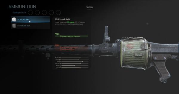 Warzone | 75 Round Belt - Magazine Stats | Call of Duty Modern Warfare - GameWith