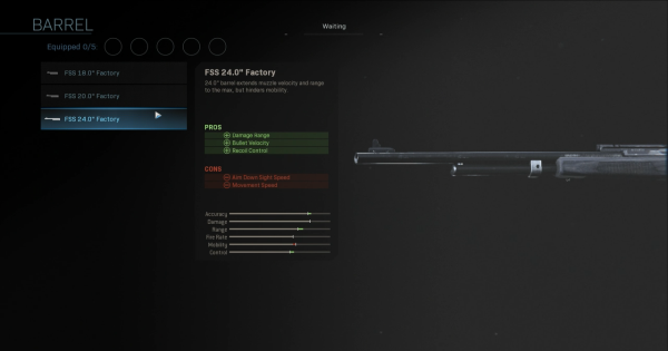 "Warzone | FSS 24.0"" Factory - Barrel Stats | Call of Duty Modern Warfare - GameWith"