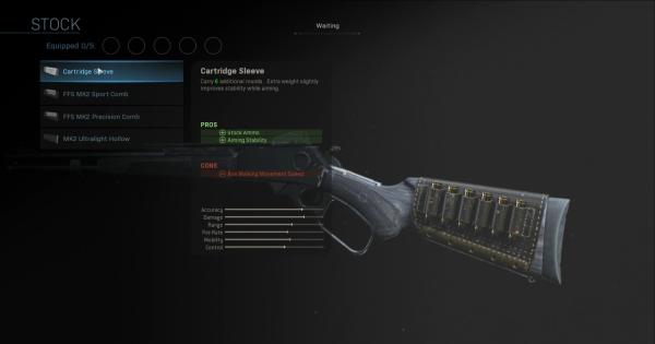 【Warzone】Cartridge Sleeve - Stock Stats【Call of Duty Modern Warfare】 - GameWith