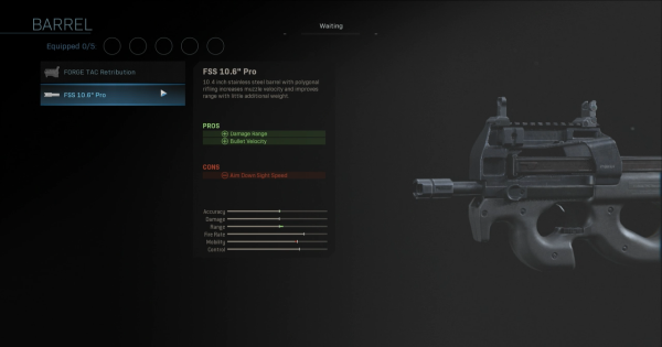 Warzone | FSS 10.6 Pro - Barrel Stats | Call of Duty Modern Warfare - GameWith