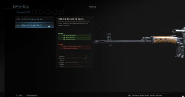 CoD: MW 2019 | 660mm Extended Barrel - Barrel Stats | Call of Duty: Modern Warfare