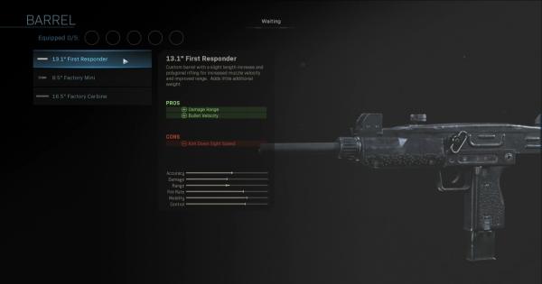 CoD: MW 2019 | 13.1 First Responder - Barrel Stats | Call of Duty: Modern Warfare
