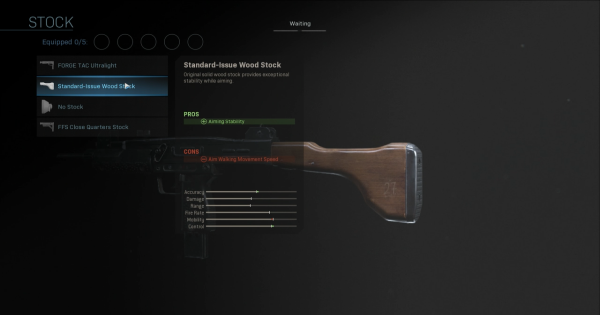 Warzone | Standard-Issue Wood Stock - Stock Stats | Call of Duty Modern Warfare - GameWith