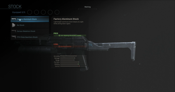 【Warzone】Factory Aluminum Stock - Stock Stats【Call of Duty Modern Warfare】 - GameWith