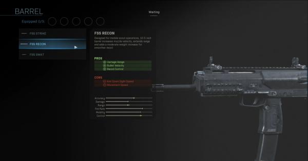 Warzone | FSS Recon - Barrel Stats | Call of Duty Modern Warfare - GameWith