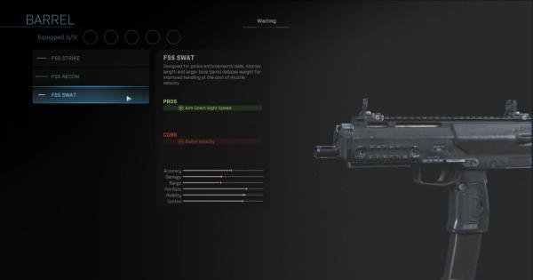 Warzone | FSS SWAT - Barrel Stats | Call of Duty Modern Warfare - GameWith