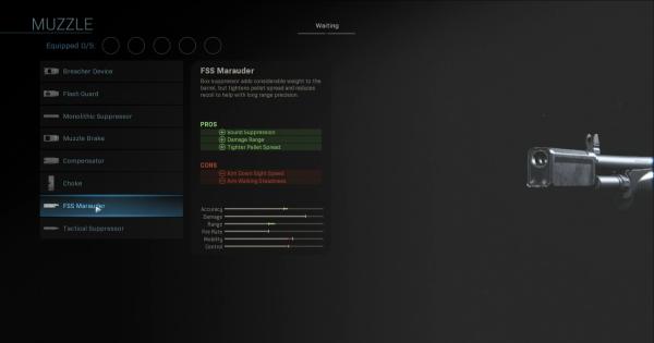 CoD: MW 2019   FSS Marauder - Muzzle Stats   Call of Duty: Modern Warfare
