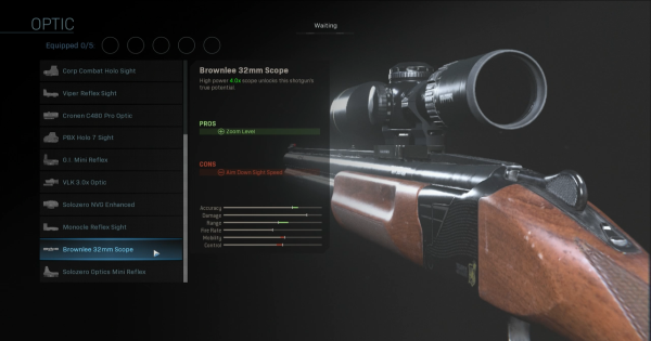 Warzone | Brownlee 32mm Scope - Optic Stats | Call of Duty Modern Warfare - GameWith