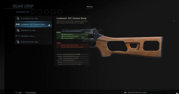 Warzone | Lockwood .357 Custom Stock - Rear Grip Stats | Call of Duty Modern Warfare - GameWith