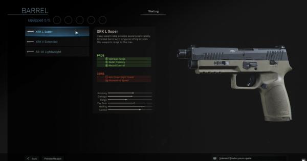 【Warzone】XRK L Super - Barrel Stats【Call of Duty Modern Warfare】 - GameWith