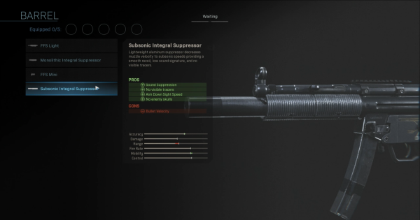 Warzone | Subsonic Integral Suppressor - Barrel Stats | Call of Duty Modern Warfare - GameWith