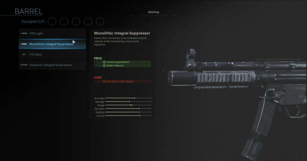 CoD: MW 2019 | Monolithic Integral Suppressor - Barrel Stats | Call of Duty: Modern Warfare
