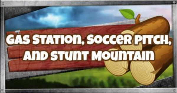 Fortnite   Search Between A Gas Station, Soccer Pitch & Stunt Mountain - GameWith