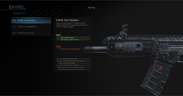 CoD: MW 2019 | FORGE TAC Precision - Barrel Stats | Call of Duty: Modern Warfare