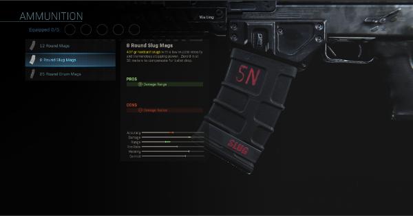 Warzone | 8 Round Slug Mags - Magazine Stats | Call of Duty Modern Warfare - GameWith
