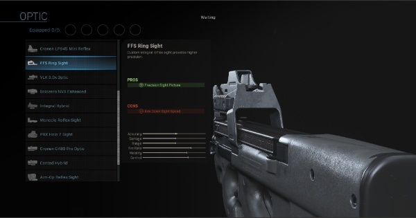 【Warzone】FSS Ring Sight - Optic Stats【Call of Duty Modern Warfare】 - GameWith