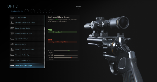 Warzone | Lockwood Pistol Scope - Optic Stats | Call of Duty Modern Warfare - GameWith
