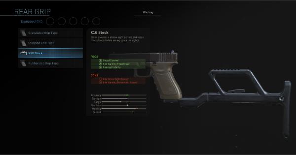 Warzone | X16 Stock - Rear Grip Stats | Call of Duty Modern Warfare - GameWith
