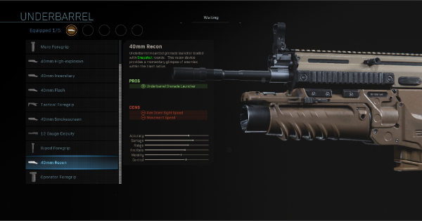 【Warzone】40mm Recon - Underbarrel Stats【Call of Duty Modern Warfare】 - GameWith