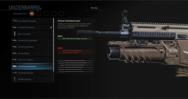 【Warzone】40mm Smokescreen - Underbarrel Stats【Call of Duty Modern Warfare】 - GameWith