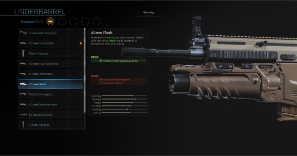 Warzone | 40mm Flash - Underbarrel Stats | Call of Duty Modern Warfare - GameWith