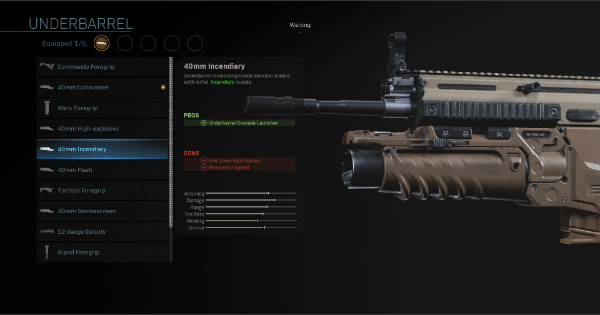 【Warzone】40mm Incendiary - Underbarrel Stats【Call of Duty Modern Warfare】 - GameWith