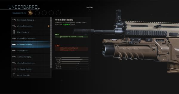 CoD: MW 2019 | 40mm Incendiary - Underbarrel Stats | Call of Duty: Modern Warfare