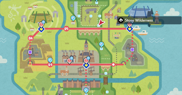 Pokemon Sword Shield | Stony Wilderness (Wild Area) - Den & Location