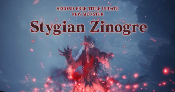 MHW: ICEBORNE | 2nd Free Title Update - Stygian Zinogre & New Elder Dragon