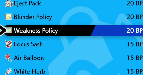 Weakness Policy - How To Get | Pokemon Sword Shield - GameWith