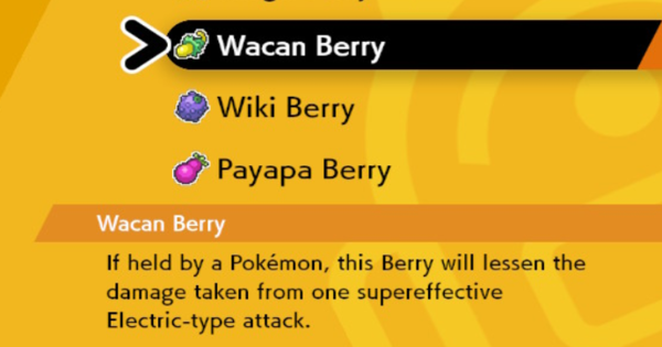 Wacan Berry - How To Get | Pokemon Sword Shield - GameWith