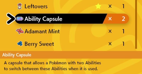 Ability Capsule - How To Get & Location | Pokemon Sword Shield - GameWith