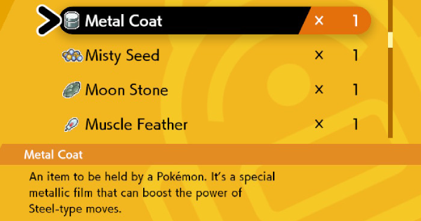 Metal Coat - How To Get & Location | Pokemon Sword Shield - GameWith