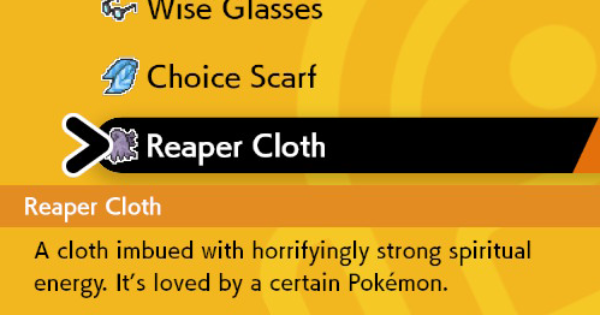 Reaper Cloth - How To Get & Location | Pokemon Sword Shield - GameWith