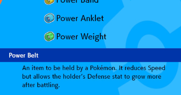 Power Belt - How To Get & Location | Pokemon Sword Shield - GameWith