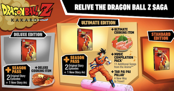 Dragon Ball Z: Kakarot | Different Editions & Pre-Order Bonuses | DBZ Kakarot