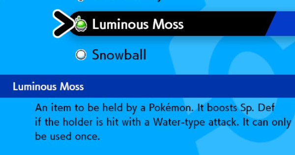 Pokemon Sword Shield | Luminous Moss - How to Get & Location