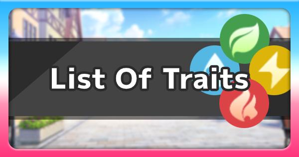 Temtem | List Of All Traits