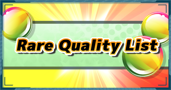 Pokemon Mystery Dungeon DX | All Rare Quality List - GameWith