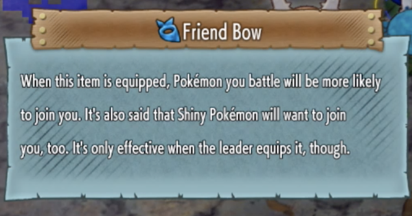 Pokemon Mystery Dungeon DX | Friend Bow - Location & How To Get - GameWith