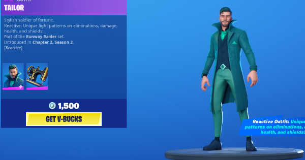 Fortnite | TAILOR Skin - Set & Styles - GameWith