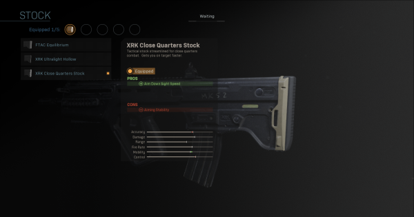 【Warzone】XRK Close Quarters Stock - Stock Stats【Call of Duty Modern Warfare】 - GameWith