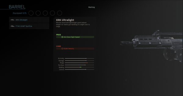 【Warzone】XRK Ultralight - Barrel Stats【Call of Duty Modern Warfare】 - GameWith