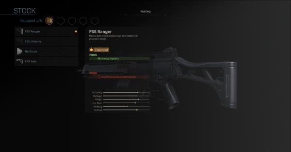【Warzone】FSS Ranger - Stock Stats【Call of Duty Modern Warfare】 - GameWith
