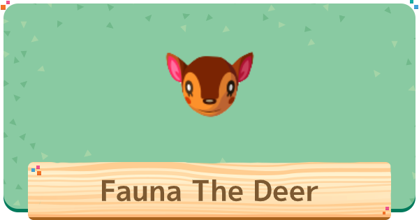 Animal Crossing Fauna The Deer Villager Basic Info